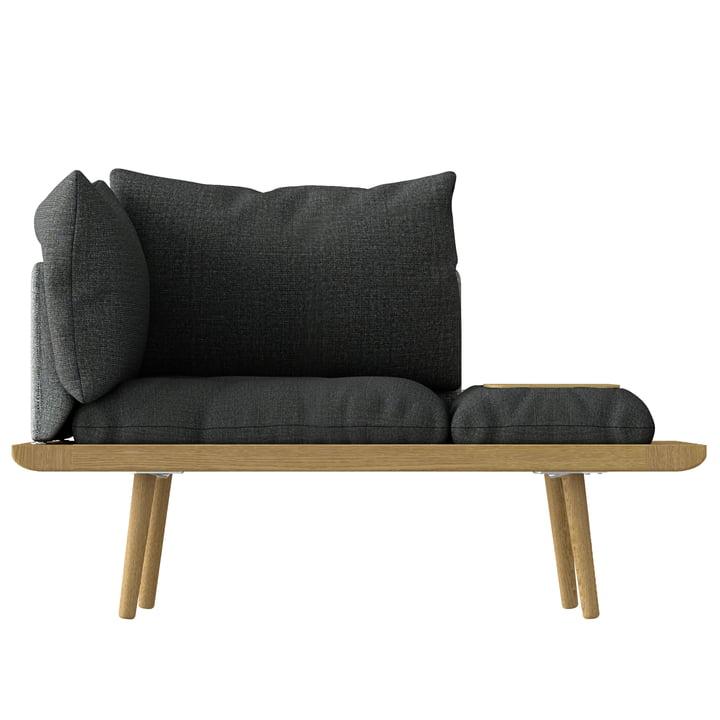 Salon Environ 1. 5 sièges Umage en chêne / gris ardoise / gris foncé