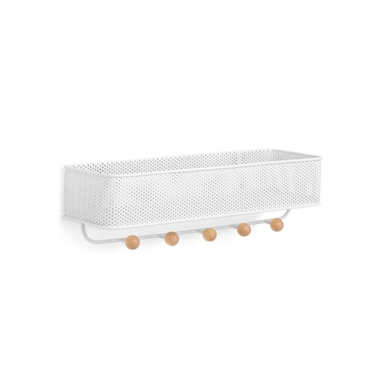 Armoire ancienne avec étagère Umbra en blanc / naturel