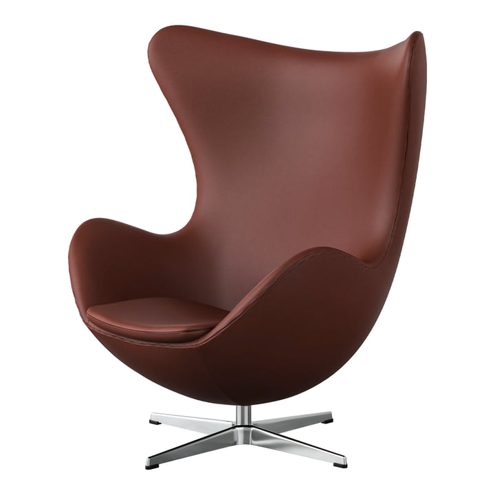 Egg Chair from Fritz Hansen in Chrome / Spectrum leather rust-brown (édition spéciale)