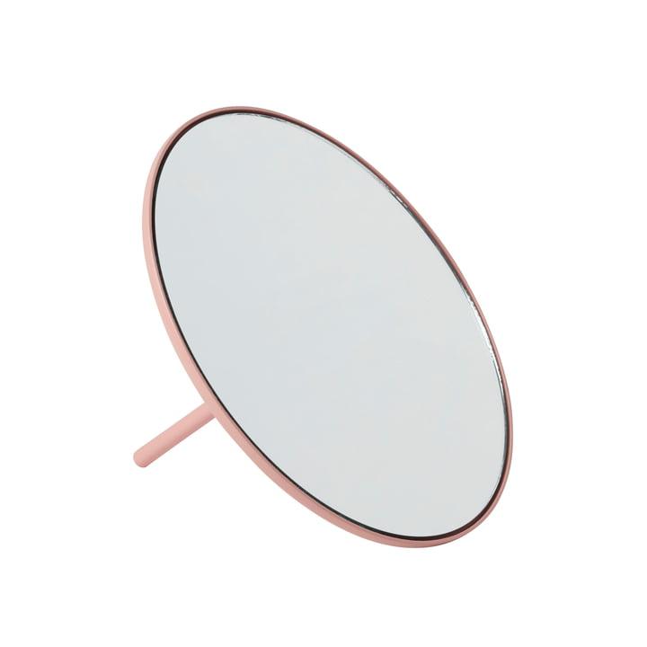 Miroir de table IO Ø 18 cm de Gejst en rose