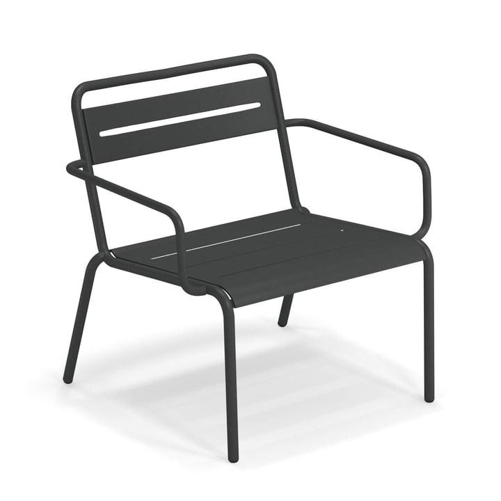 Star Chaise longue Emu en fer forgé antique