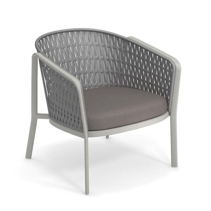 Chaise longue de carrousel Appartement 1218, ciment/gris de Emu