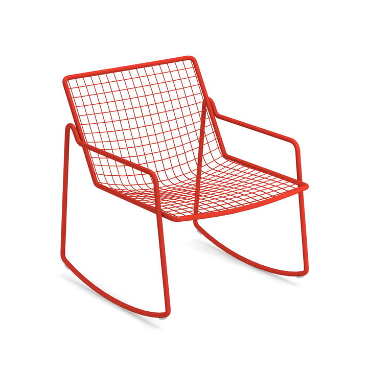 Rocking chair Rio R50, rouge écarlate de Emu