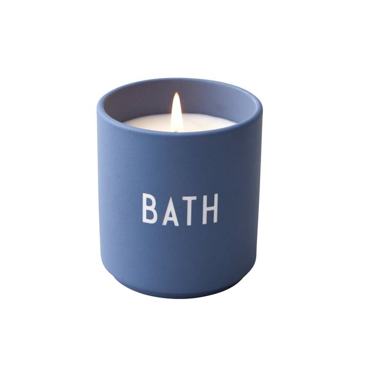 bougie parfumée, Bath / bleu de Design Letters