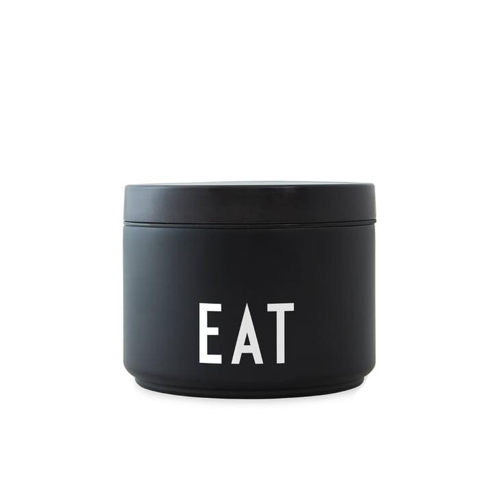 Boîte à lunch isotherme / isotherme Food small, noir / blanc par Design Letters