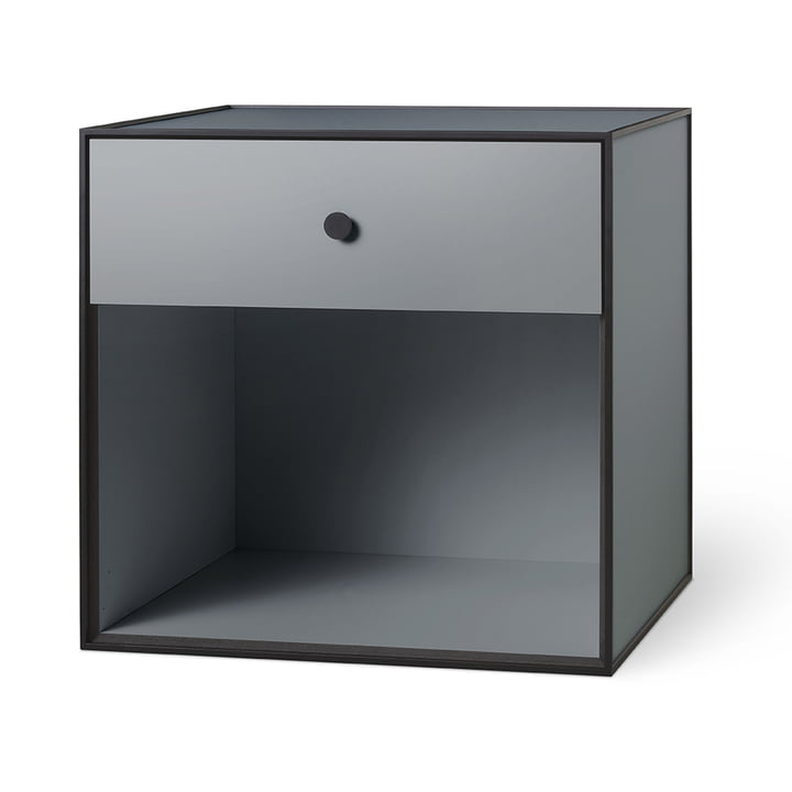Frame 49 avec 1 tiroir by Lassen en gris foncé