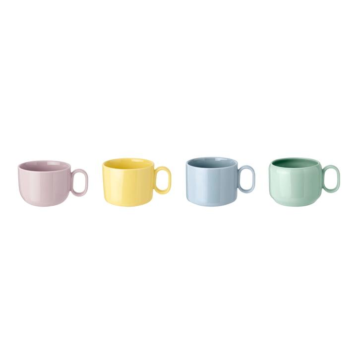Mix'n'Match Tasses (jeu de 4) de Rig-Tig by Stelton en bleu / jaune / rose / vert