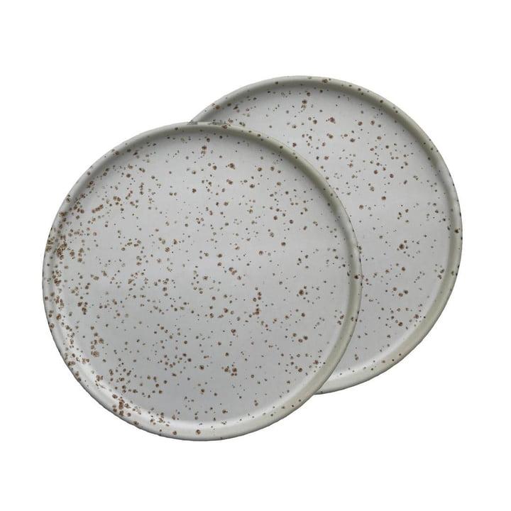 Inka Assiette Ø 16 cm à partir OYOY de en blanc / brun clair (lot de 2)