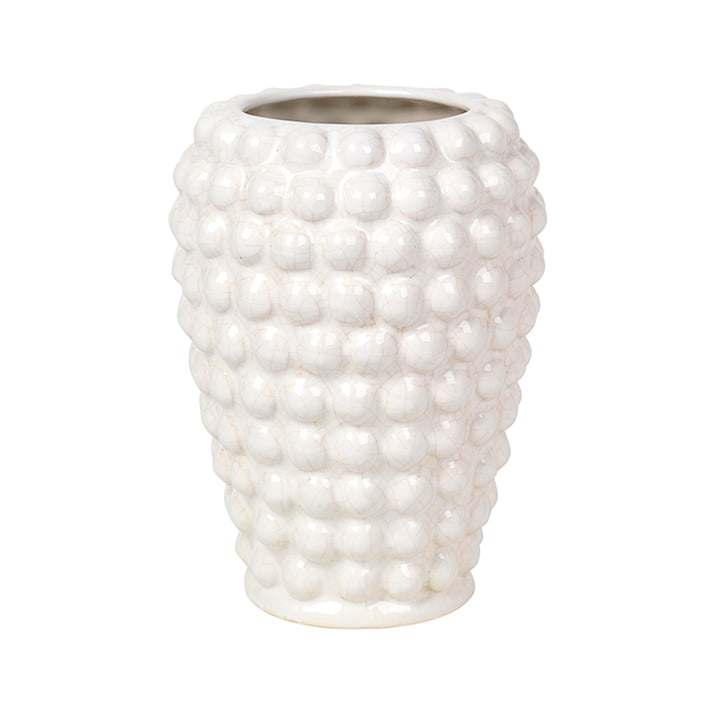 Dotty Vase S, Ø 14 x H 20 cm, ivoire de Broste Copenhagen