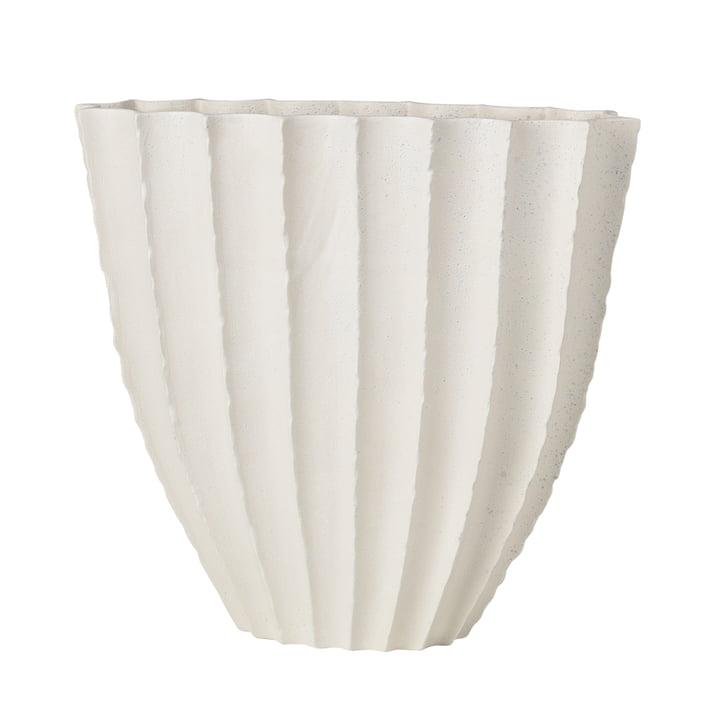 Debbie Vase H 35 cm, blanc de Broste Copenhagen