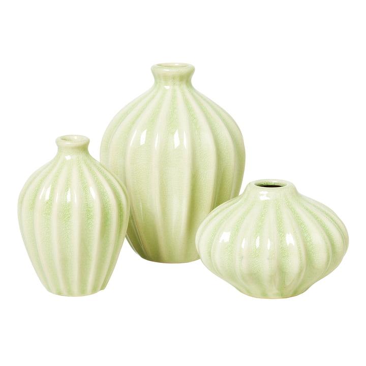 Amalie Vase, sauge du désert (set de 3) de Broste Copenhagen