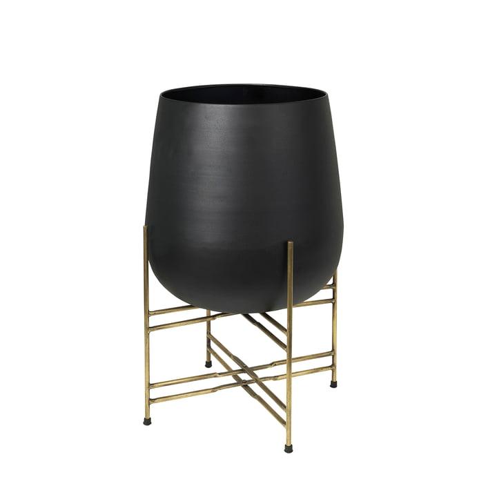 Hege Pot à plantes avec support, Ø 43 x H 63 cm, laiton / noir de Broste Copenhagen