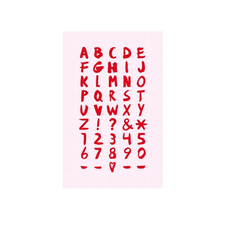 Mini Quotes Affiche de IXXI en rose