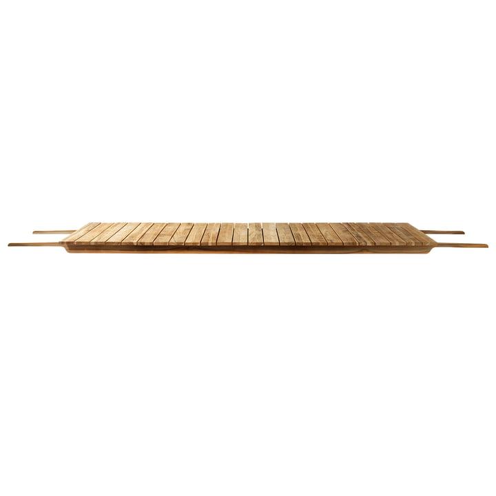 M4 extension pour table de jardin M2 et M3 grand 90 x 104,5 cm de FDB Møbler teck