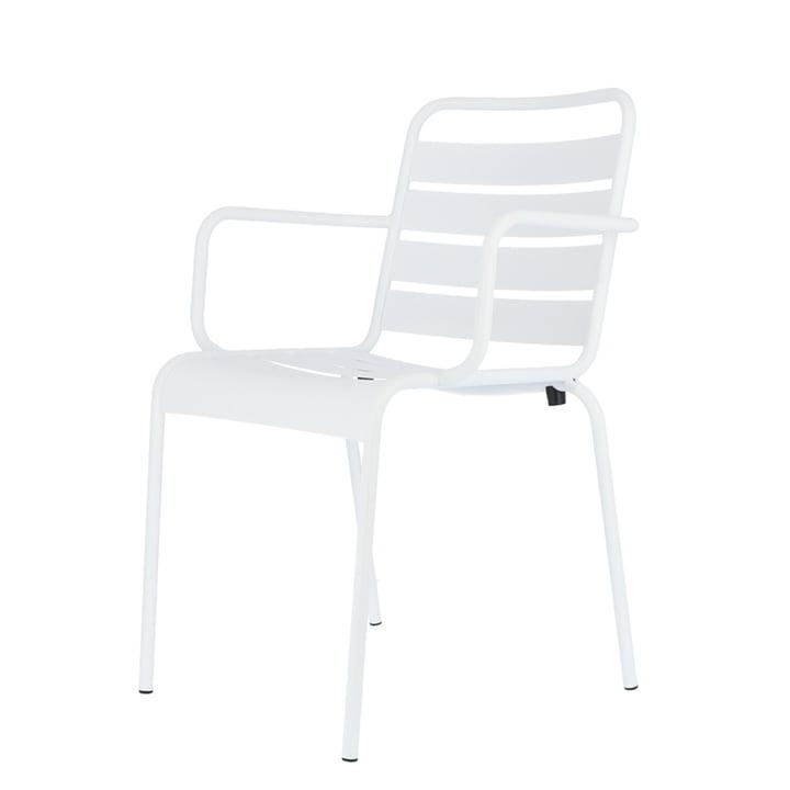 Mya chaise en métal avec accoudoir de Fiam en blanc