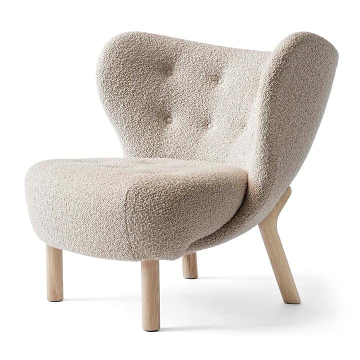 La petite chaise longue Petra VB1 par & tradition en chêne blanc huilé / Karakorum 003