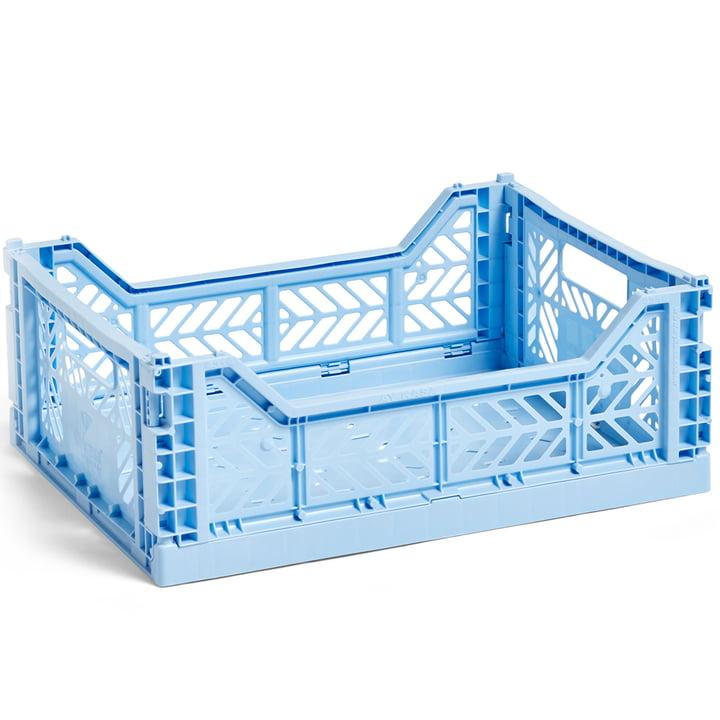 Colour Corbeille à claire-voie M 40 x 30 cm de Hay en bleu clair