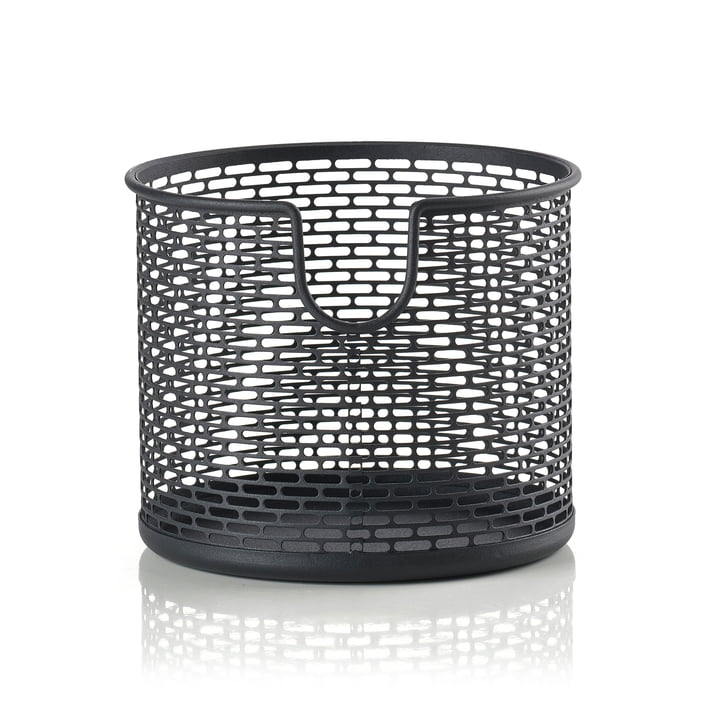 Panier de rangement en métal Ø 12 x H 10 cm de Zone Denmark en noir