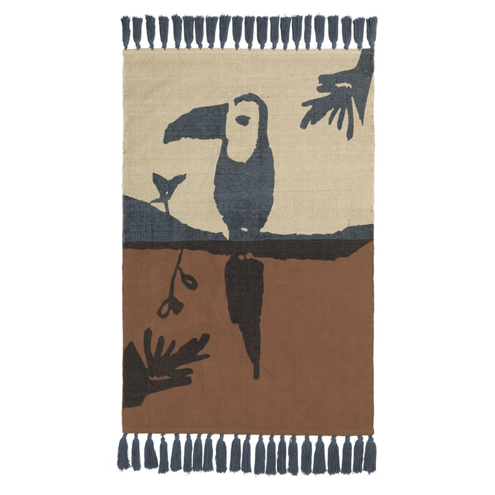 Tapis d'enfants Toucan Nofred en marron