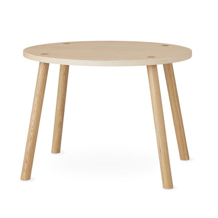 Mouse Table d'enfant ovale 64 x 46 cm Nofred en chêne laqué mat