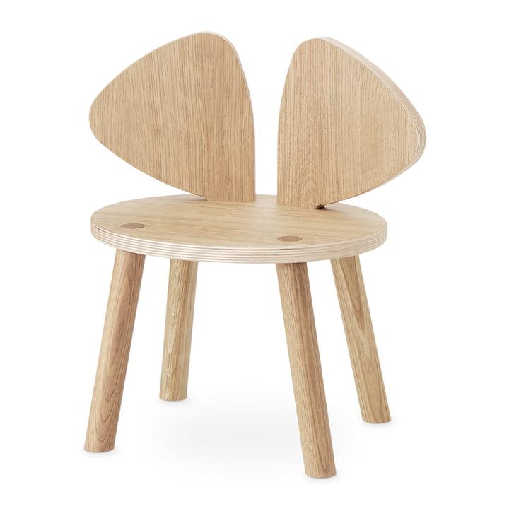 Mouse Chaise d'enfant Nofred en chêne laqué mat