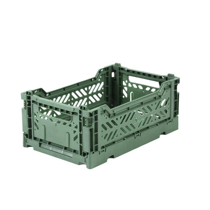 Boîte pliante Mini 27 x 17 cm de Aykasa dans almond green