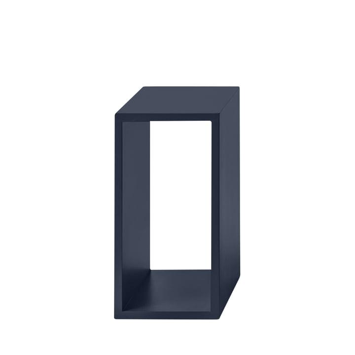 Module d'étagères empilées 2. 0 sans panneau arrière, petit / bleu nuit de Muuto