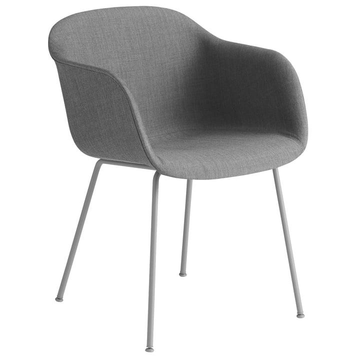 Fiber Chair Tube Base , gris / Remix 133 par Muuto