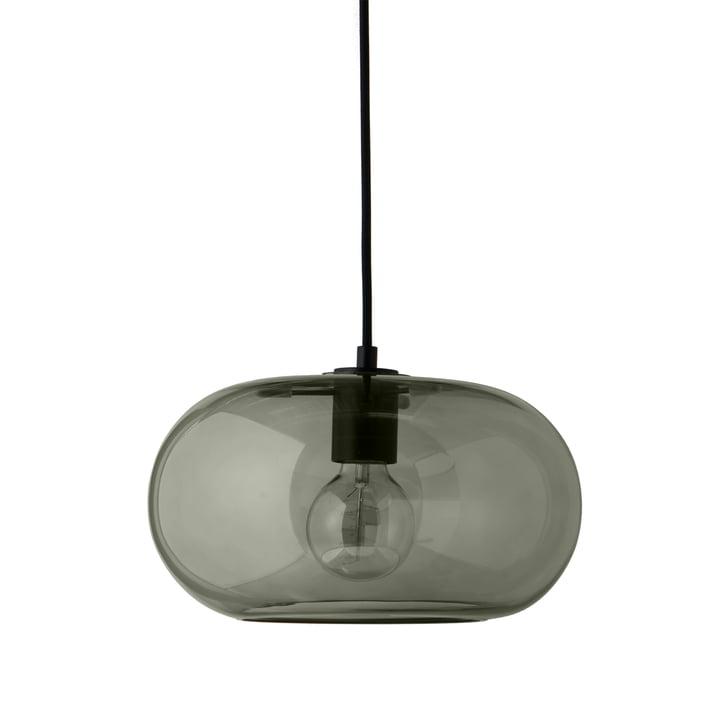 Lampe à suspension Kobe Ø 30 cm, verre vert / noir de Frandsen