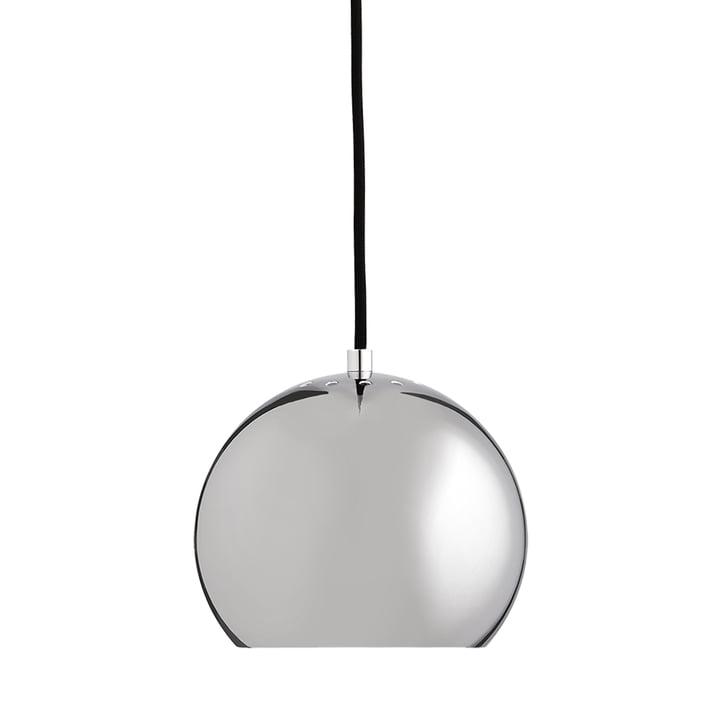 Ball Lampe à suspension Ø 18 cm, chrome / blanc de Frandsen