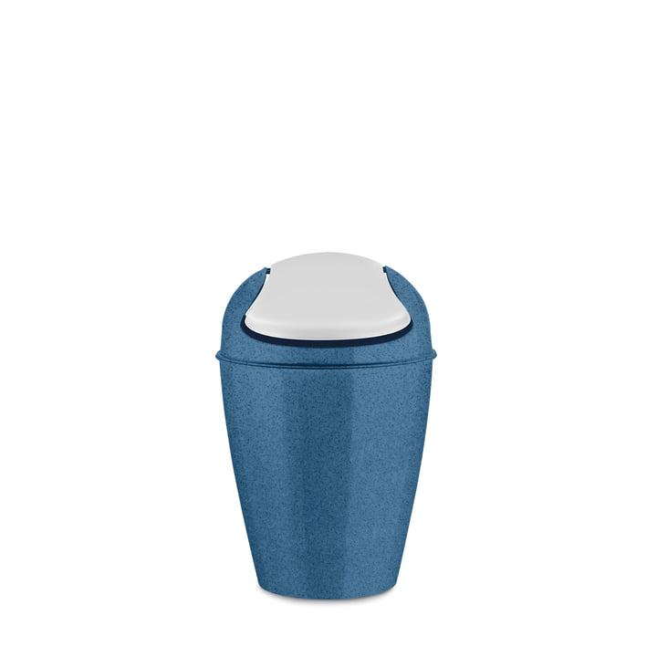 Seau à couvercle basculant DEL S de Koziol 5 l en bleu foncé organique