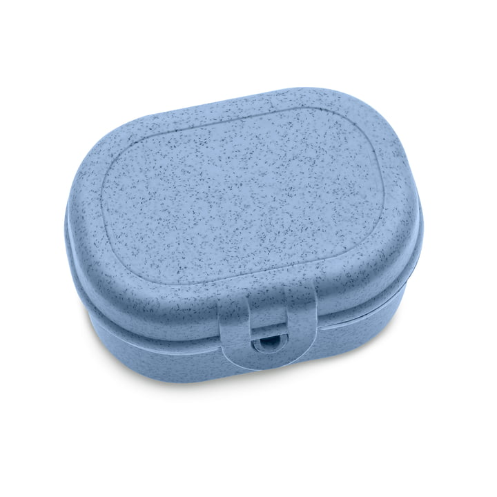 Mini Lunchbox Pascal Koziol en bleu organique