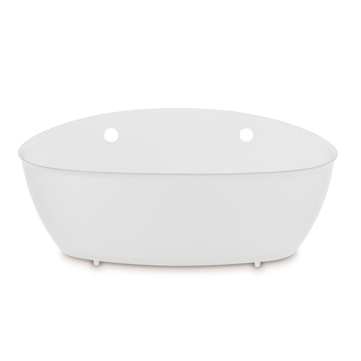 Splash Silo de salle de bain Koziol en coton blanc