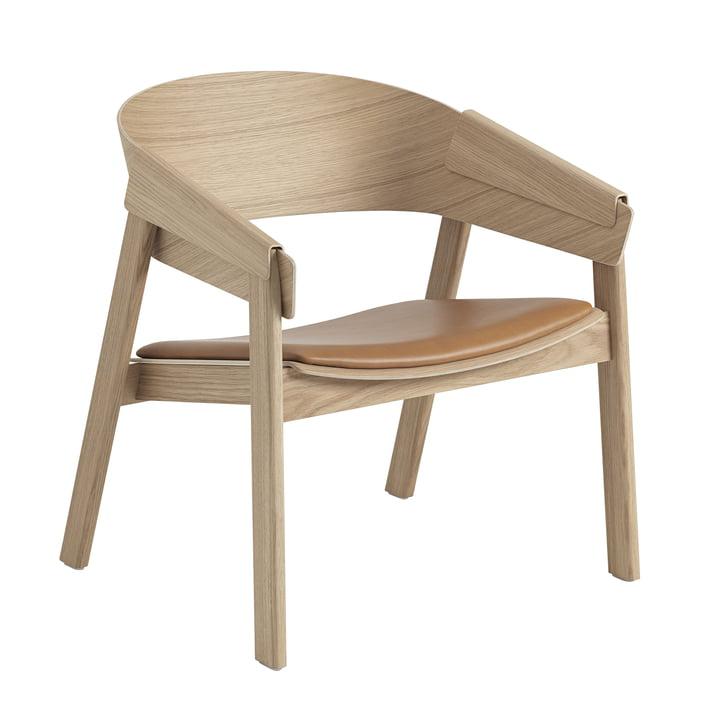 Cover Chaise longue Muuto en chêne / cognac