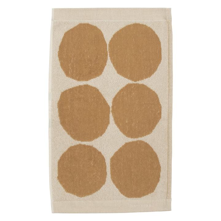 Serviette d'invité Kivet 30 x 50 cm de Marimekko en coton blanc / beige