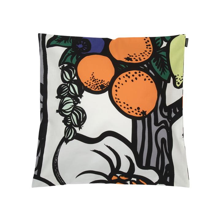 Housse de coussin Pala Taivasta 50 x 50 cm de Marimekko en blanc / orange / vert