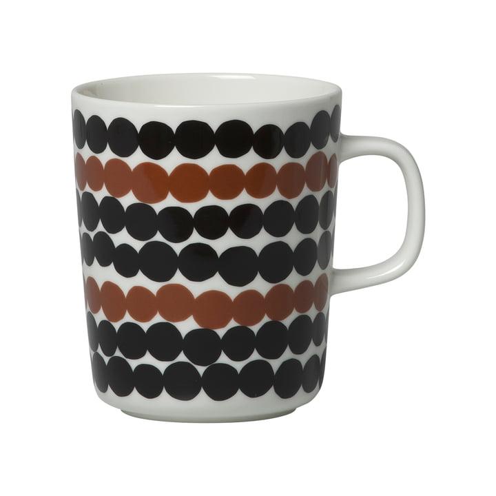 Oiva Siirtolapuutarha Tasse avec anse 250 ml de Marimekko en blanc / marron / noir