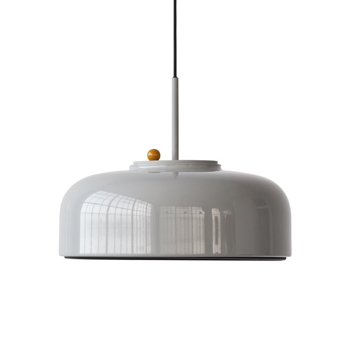 Podgy Lampe à suspension Ø 42 cm de Please wait to be seated dans ash grey / turmeric yellow