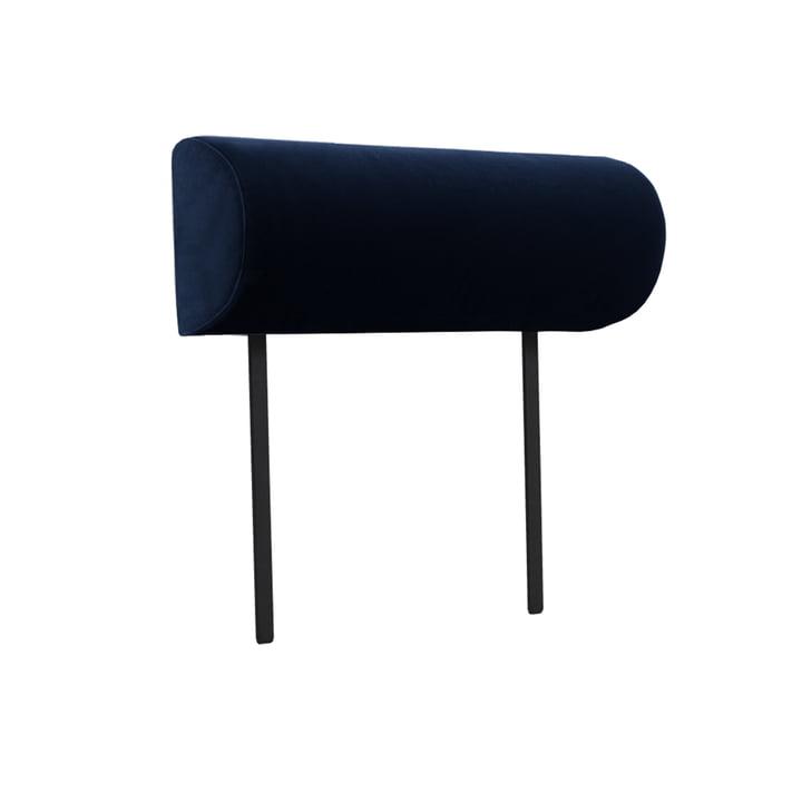 Accoudoir pour canapé modulaire Weber de Objekte unserer Tage couleur bleu foncé (City Velvet CA7832/052)