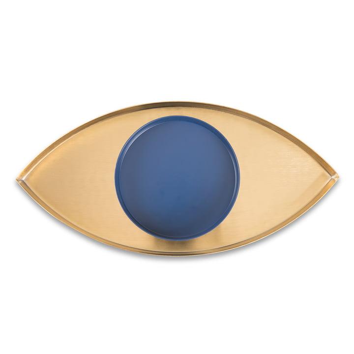 The Eye Ensemble de 2 plateaux, or / bleu de Doiy