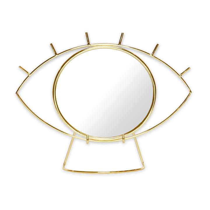 Cyclops Miroir de table, or par Doiy