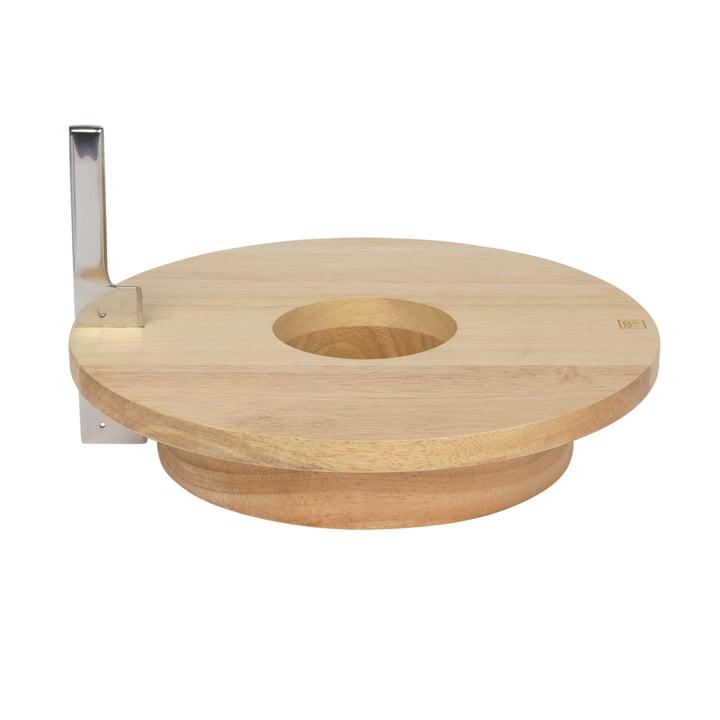 Cheese & Wine Plateau de service avec couteau, bois de caoutchouc / acier inoxydable de Doiy