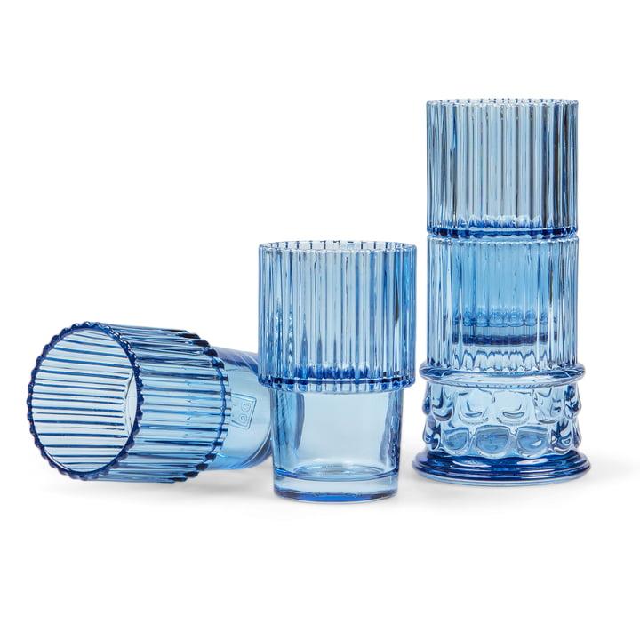 Doiy - Hestia Set de verres à boire (4 pièces), bleu