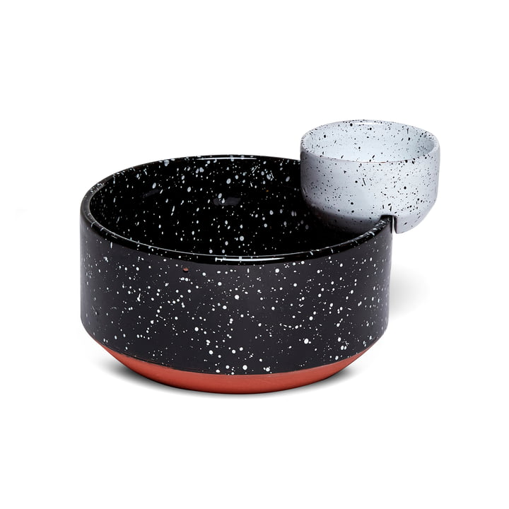 Eclipse Bol de service petit, noir / blanc par Doiy