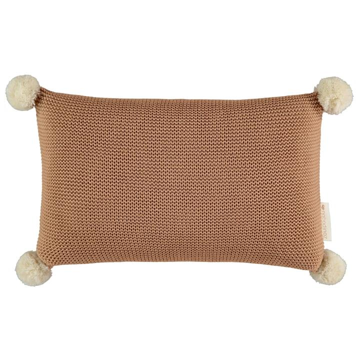 Oreiller tricoté So Natural, 22 x 35 cm, biscuit par Nobodinoz