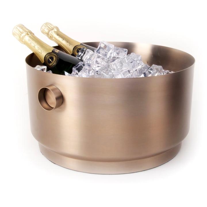 Rondo Party Bucket Refroidisseur de bouteille, en cuivre et acier de XLBoom