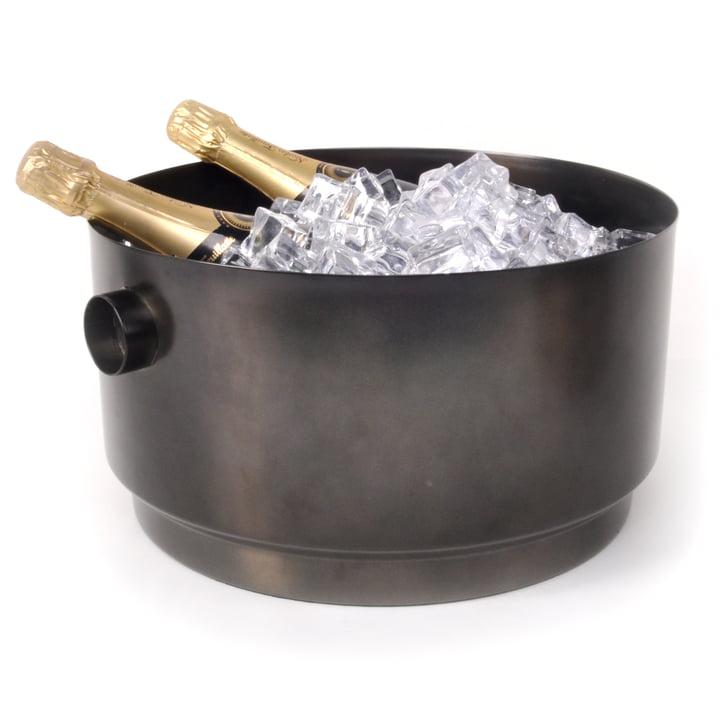 Rondo Party Bucket Refroidisseur de bouteille, acier noir de XLBoom