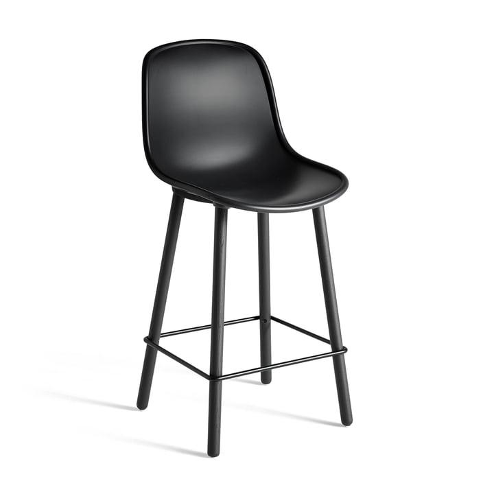 Neu12 Tabouret de bar Hay en noir mou avec une hauteur d'assise de 65 cm