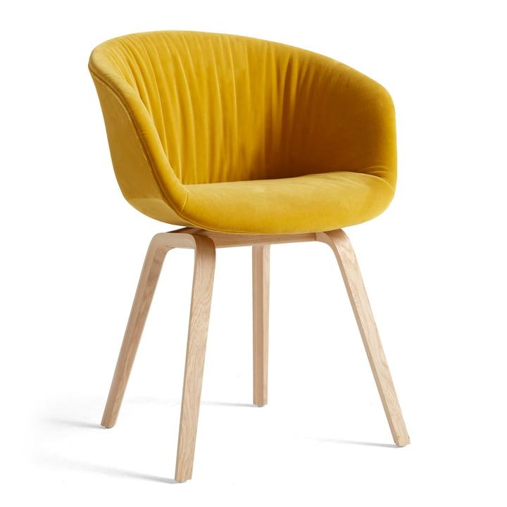 About A Chair AAC 23 Soft Hay dans la variante chêne laqué mat / entièrement rembourré Lola jaune