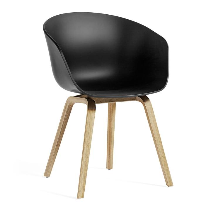 About A Chair AAC 22 ECO de Hay en chêne / noir